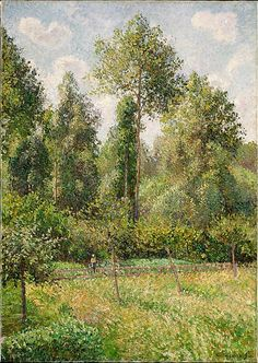 Poplars, Eragny by Pissarro Imagine sitting on the edge of this painting. What are you doing?  What are you thinking about?  Art is the best medicine ever made.