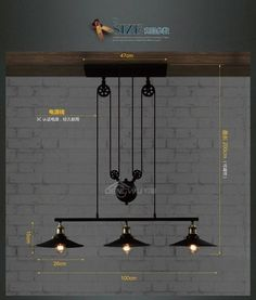Rh2 Loft Vintage Industrial Retro Iron Pulley Chandelier Pendant Lamp Bar Kitchen Home Decoration E27 Edison Bulb Light Fixtures-inChandeliers from Lights & Lighting on Aliexpress.com | Alibaba Group