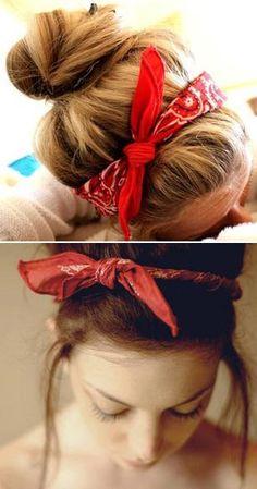 Bandana ❤ wearing my hair like this!