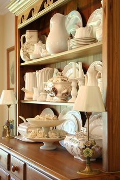 Pretty grouping of white dishes