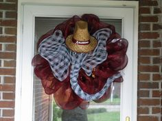 Bama Wreath - on my door, made by my mom @Jackie Wilkerson - Love it!