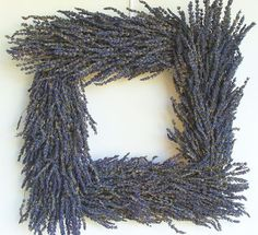 I LOVE square wreaths!!    Small Square Lavender Wreath Organic 13 inches by elegantholidays, $55.00