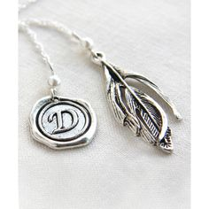 Monogram Bookmark Personalized Bookmark Custom Bookmark Metal Bookmark... ($28) ❤ liked on Polyvore featuring jewelry, pendants, sterling silver feather charm, monogram charms, letter charms, sterling silver jewelry and sterling silver initial jewelry