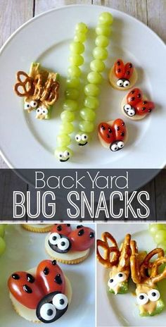 Kid approved healthy snacks Turn veggies into fun bug snacks via craftingchicks Yard Bug Snacks Kid approved healthy snacks! Turn veggies into fun bug snacks. via approved healthy snacks! Turn veggies into fun bug snacks. via Toddler Meals, Kids Meals, Family Meals, Baby Food Recipes, Snack Recipes, Easy Recipes, Fun Recipes For Kids, Snack Ideas For Kids, Lunch Box Recipes