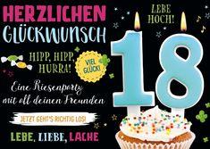 Lustige Spruche Und Schone Gluckwunsche Zum 18 Geburtstag