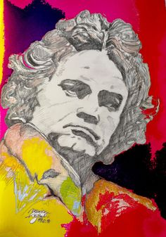 mr marian hergouth, Beethoven ps 6 Ps, Digital Art, Portrait, Artist, Paper, Canvas, Drawing S, Headshot Photography, Artists