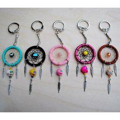 Sugar skull dreamcatcher keychains