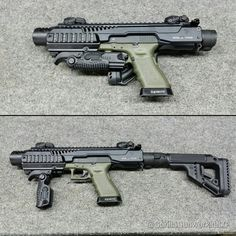 SBR conversion kit for glock. (posted by @gorillagunworksllc) #glockfanatics…