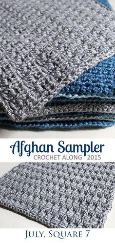 Bobble Stitch, Square 7 of 10 for the Crochet Along Afghan Sampler on The Inspired Wren