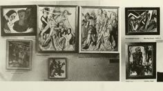 Room 1-West wall, of the Degenerate art exhibition ('Entartete Kunst') was organised by the Nazi regime in Munich and exhibited over 650 art works banned from 32 German museums.