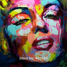 Find More Painting & Calligraphy Information about Palette knife painting portrait Palette knife Face Oil painting Impasto figure on canvas Hand painted Francoise Nielly 11,High Quality art painting set,China art paintings abstract Suppliers, Cheap painting monkey from Eazilife Oil Painting on Aliexpress.com