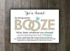 Printable Stock the Bar Invitation  by CarasCustomCreations