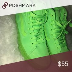 c8044afbe3d95f Shop Women s Vans Green size 7 Sneakers at a discounted price at Poshmark.
