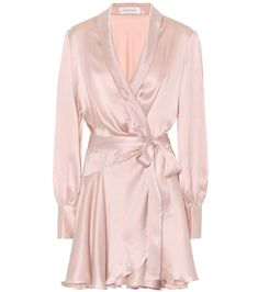 Image zimmermann silk satin dress hosted in Life Trends 1 Silk Satin Dress, Satin Dresses, Wrap Tie Dress, Pretty Outfits, Pretty Clothes, Women Lingerie, Pink Dress, Polyvore, Skirts
