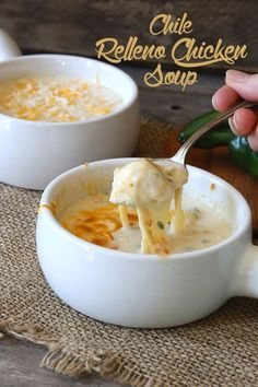 Creamy rich soup wit