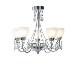 Crawford 5 Light Pendant Polished Chrome IP44 - catalogue
