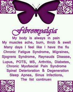 Chronic fatigue syndrome and fibromyalgia often have very similar treatments due to the fact that these two syndromes share a lot of common characteristics. If you are a chronic fatigue syndrome or fibromyalgia patient, the treatments Fibromyalgia Quotes, Fibromyalgia Pain, Chronic Pain, Chronic Illness, Fibromyalgia Disability, Fibromyalgia Syndrome, Chronic Tiredness, Fatigue Causes, Chronic Fatigue Syndrome Diet
