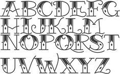 Resultado de imagen para tattoo font