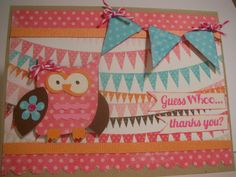 Guess WHOO Thanks Youowl thank you card by liveloveandSCRAP