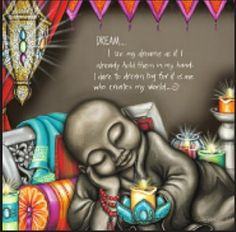 """Buy the beautiful """"Dream"""" affirmation canvas print from New Age Markets. This unique 30 x design by artist Lisa Pollock features inspirational text. Let Your Light Shine, Light Up, Beautiful Dream, Dream Big, Buddha Doodle, Buddha Canvas, Metal Garden Art, Canvas Quotes, Inspirational Artwork"""