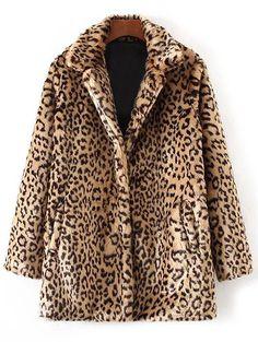 Leopard Faux Fur Winter Coat