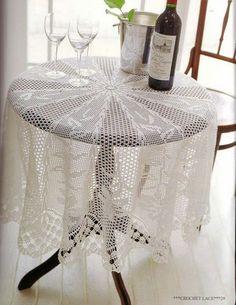Lace crochet tablecloth