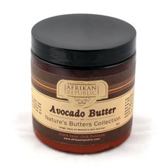 Avocado Butter $11.95  For severe dryness, this is a wonderful treatment for both skin and hair. M-P903 Order Here: africaimports.com