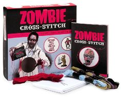 zombie cross-stitch book