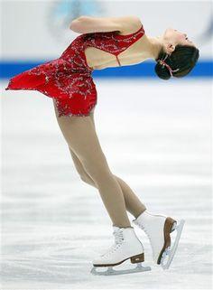 Laura Lepisto - Red Figure Skating / Ice Skating dress inspiration for Sk8 Gr8 Designs.