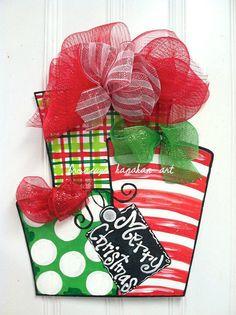 Red and Green Presents Door Hanger