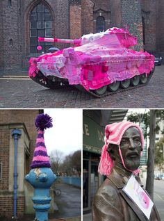 Design Free Thursday | Yarn Bombing {aka Graffiti Knitting}. | yellowtrace blog »