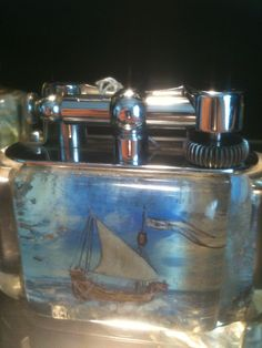 Fantastic Dunhill Aquarium lighter  c.a 50's One at a type  Call Danilo 0039 335 6815268