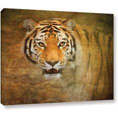 Antonio Raggio 'Watching Tiger' Gallery-Wrapped Canvas, Size: 24 x 32, Orange