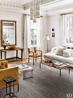 Best Nate Berkus Interiors Gray and White Living room