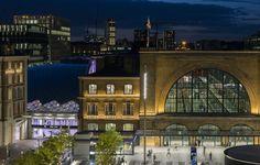 Kings Cross Square, London, UK – Architectural project: Stanton Williams – Lighting project: Studio Fractal – Photo: Will Scott - Lighting products: iGuzzini illuminazione #iGuzzini #Lighting #Light#Luce #Lumière #Licht #Urban #Square #London#CustomProduct