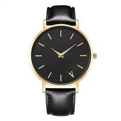 eb00ad802ba 2018 nova marca relógio de quartzo amantes relógios mulheres homens vestido  relógios vestido de couro relógios de pulso moda c…