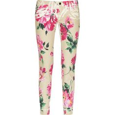 dolce floral jeans!! I had some just like this in the 80's!!