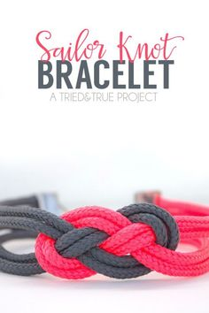 DIY Paracord Nautical Knot Bracelet Tutorial from Tried &... (TrueBlueMeAndYou…