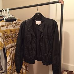 Jacket Faux leather motto jacket from Target. Great condition. I never wear it. Xhilaration Jackets & Coats
