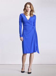 Baukjen The Classic Wrap Dress in Blue   Dresses