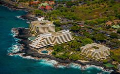 Royal Kona Aerial View I Book your vacation rental in Kailua-Kona, Hawaii with TRIPBOUND.com for up to 50% off published rates!