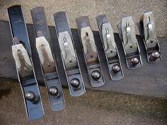 Woodworking Hand Planes, Antique Woodworking Tools, Antique Tools, Old Tools, Vintage Tools, Wood Planner, Wooden Plane, Blacksmithing, Metal Working