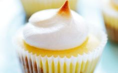 Mini Lemon Meringue Cheesecake Cupcakes by Anna Olson (Egg White, Lemon) @FoodNetwork_UK