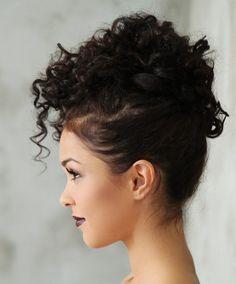 Big Hair Updo, Curly Bridal Hair, Hairdos For Curly Hair, Curly Hair Styles, Natural Hair Styles, Great Hairstyles, Elegant Hairstyles, Wedding Hairstyles, Hair Styler