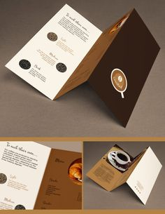 This post gives such a Refreshing Coffee Shop Brochure Designs that you can try for a coffee shop design. Coffee Shop Website, Coffee Shop Menu, Best Coffee Shop, Brosure Design, Print Design, Graphic Design, Coffee Advertising, Creative Coffee, Folder Design