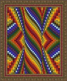 free quilt patterns | Pillar of Flame Bargello By Denise Smart | Quilt Gallery | DoYouEQ.com