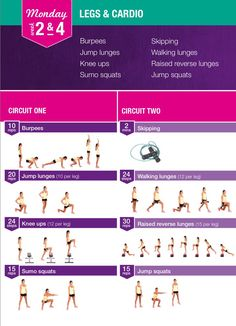Bikini body guide legs & cardio monday 2 & 4