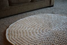 Thick & Quick Area Rug - Free Crochet Pattern