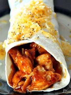 sweet & sour chicken tortillas