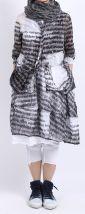 rundholz black label - Jacke mit hängenden Taschen und Print black p1 - Sommer 2016
